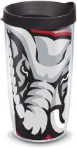 Tervis 1084699 Alabama Crimson Tide Mascot Colossal Tumbler with Wrap and Black Lid 16oz, Clear