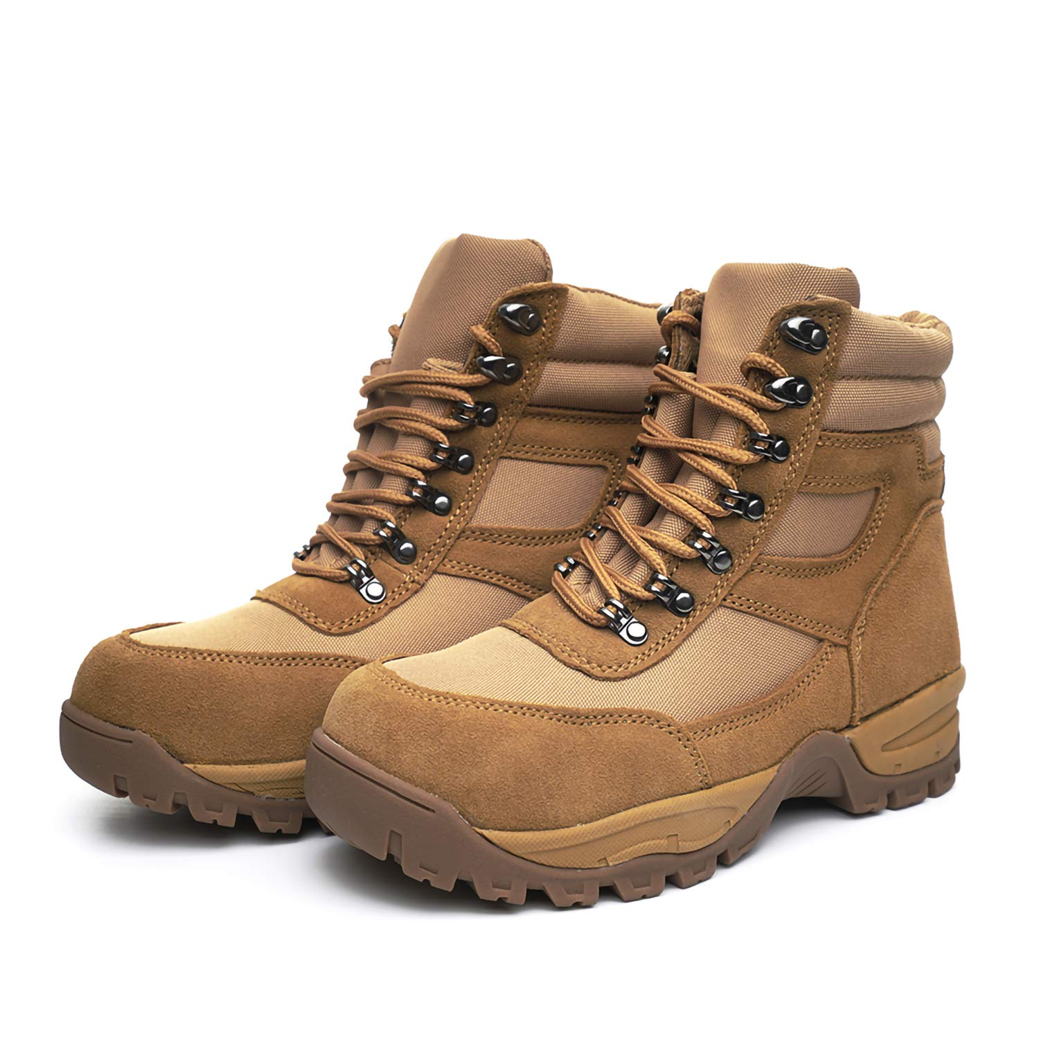 "DRKA Men's 6"" Steel Toe Work Boots,Water Resistant Military Tactical Boots"