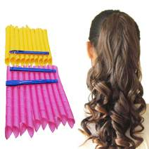 """Orgrimmar 20PCS Magic Hair Curlers Curls Styling Kit, DIY No Heat Hair Curlers for Extra Long Hair up to 22"""" (55 cm)"""