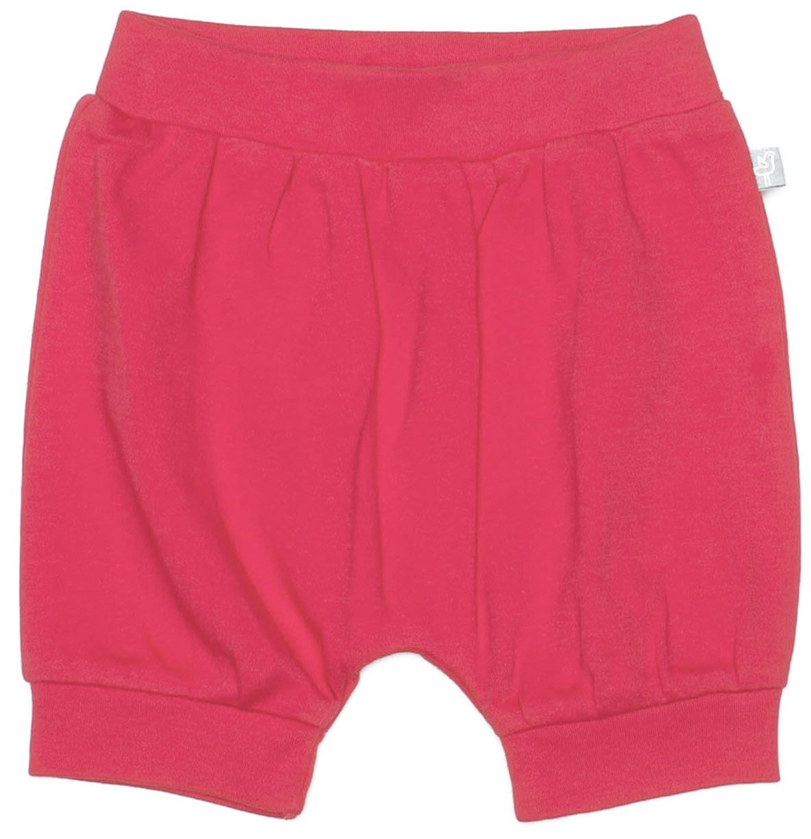 Finn + Emma Organic Cotton Shorts for Baby Boy or Girl – Rose Red, 0-3 Months