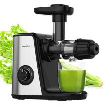 Juicer Machines, Bonsenkitchen Slow Masticating Juicer Extractor Easy to Clean, BPA Free,Quiet Motor and Reverse Function, Cold Press Juicer for Fruit Vegetable