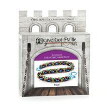 Weave Got Maille 3-Color Byzantine Chain Maille Bracelet Kit, Frolic
