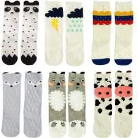 Unisex Baby Cotton Tube Socks Summer Mesh Cartoon Newborn High Stockings