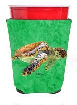 Caroline's Treasures 8549RSC Turtle Red Solo Cup Beverage Insulator Hugger, Red Solo Cup, multicolor