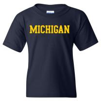 NCAA Basic Block, Team Color Youth T Shirt, College - University