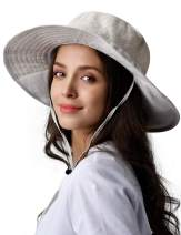 Unsex Safari Sun Bucket Hat Wide Brim Fishing Hat with Neck Flap Boonie Hat