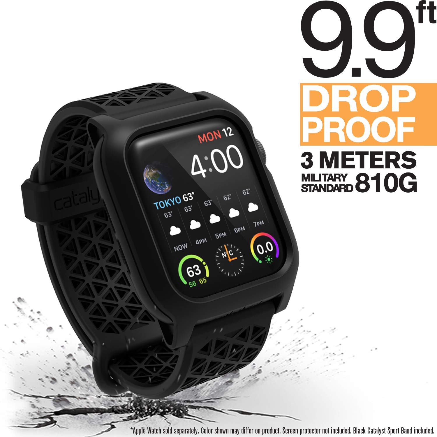 Catalyst Apple Watch Series 4 Impact Case 40mm Compatible with ECG and EKG Superior Sport Band Rugged iWatch Protective Case, Drop Proof Shock Proof Apple Watch Case, Stealth Black