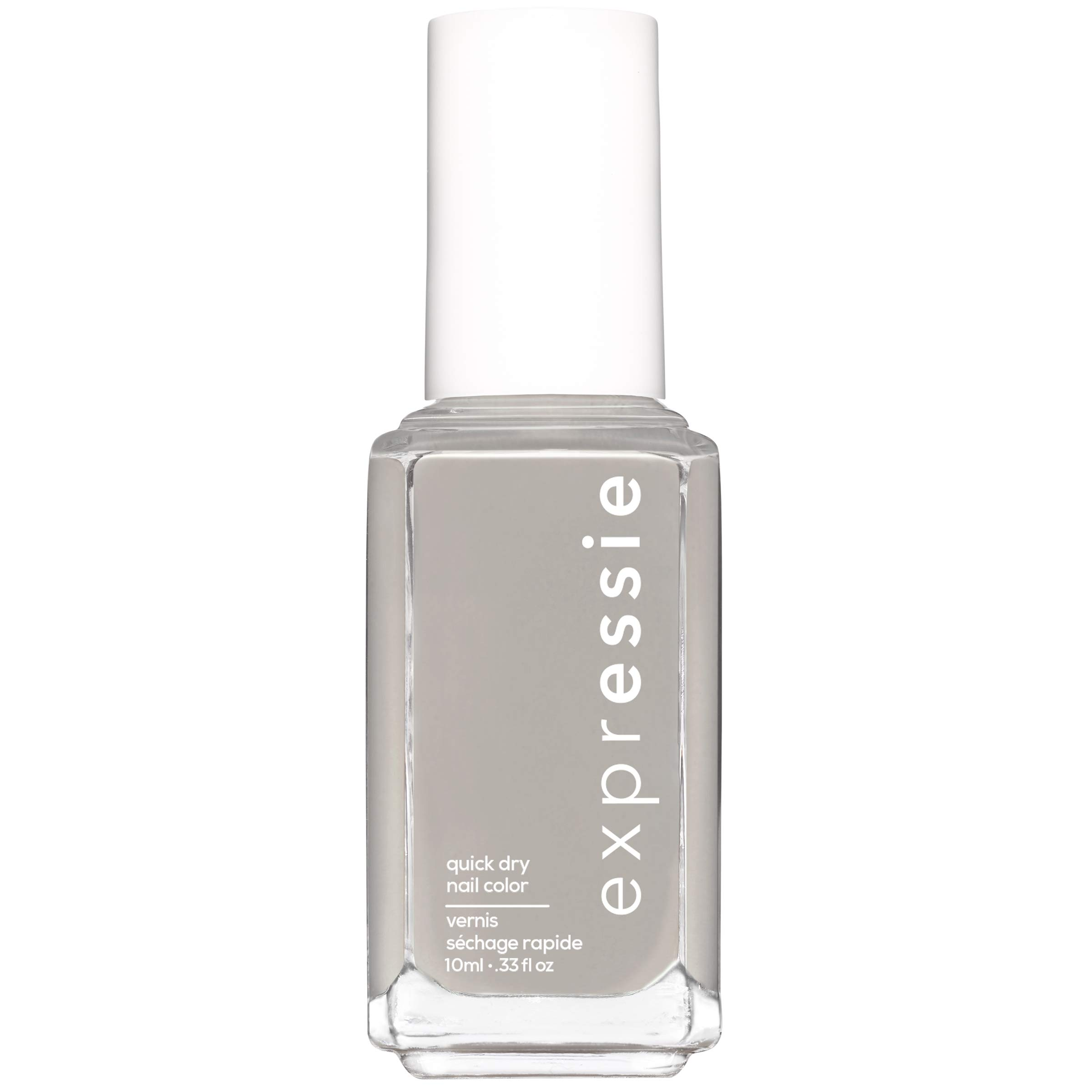 essie expressie Quick-Dry Nail Polish, Gray 360 Binge-Worthy, 0.33 Ounces