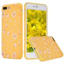 LuGeKe Cute Daisy Phone Case for iPhone 6 Plus/iPhone 6s Plus,Elegant Flower Patterned Case Cover,Soft TPU Cover Flexible Ultra Slim Anti-Stratch Bumper Protective Cute Girly Phonecase(Daisy Yellow)