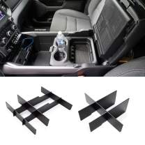 Jaronx Lower Center Console Organizer for 2019-2020 Dodge RAM 1500 and 2019-2020 RAM 2500/3500,Front Lower Center Divider+ Rear Lower Center Divider (NOT for Classic, Longhorn or Limited Models)