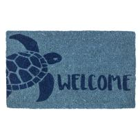 "Entryways Turtle, Hand-Stenciled, All-Natural Coconut Fiber Coir Doormat, 18"" X 30"" X .75"""