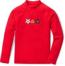 TSLA Girls Long Sleeve Rash Guard Swimsuit, UV/SPF Water Beach Surf Swim Shirt, UPF 50+ Sunscreen Swimwear Shirts