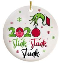 Moonsteps 2020 Stink Stank Stunk Ornament, Grinch Christmas Tree Ornaments,Christmas Ornaments for Christmas Party,Ornament_Red Ball