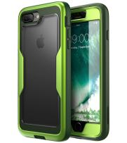 i-Blason Magma Series Case for iPhone 8 Plus 2017/iPhone 7 Plus, Heavy Duty Protection Full Body Bumper Case with Built-in Screen Protector, Includes Removable Beltclip Holster (MetallicGreen)