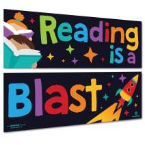 Sproutbrite Reading Classroom Decorations - Posters and Banners for Teachers - Bulletin Board and Wall Decor for Pre School, Elementary and Middle School