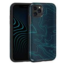 Maxcury [Eternal Series] Case for iPhone 11 Pro Max Shockproof Anti-Scratch Ultra Hybrid Hard Back & Soft TPU Bumper with Not Fade Away IMP Printing Protective Phone Cover (Map, For iPhone 11 Pro Max)