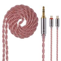 Yinyoo Upgrate 6 Cores Copper HiFi Headphones IEM Cable with 0.78mm 2 Pins Connection for ES4 ZST ZSN AS10 ZS10 CCA C10 C16 ZSX ZS10 PRO AS16 ZS7 ZSR TRN V80 V90 BA5 Blon-03 C12(Copp-2Pin3.5)