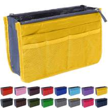Handbag Organizer by Gaudy Guru - Insert Purse Organizer - Bag in Bag - 13 Pockets - Multiple Colors