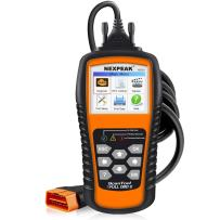 "NEXPEAK OBD2 Scanner Orange-Black Color Display with Battery Test Function, 2.8"" Car Diagnostic Scan Tool Vehicle Check Engine Light Analyzer"