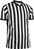Sports Unlimited Men's Official Pro-Style V-Neck Adult Referee Jersey Officiating Shirt for Basketball, Football, Soccer