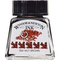 Winsor & Newton Drawing Ink Bottle, 14ml, Nut Brown