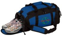 Personalized Softball Gym Duffel Bag with Custom Text   Baseball Sports Bag Designed with Customizable Embroidered Monogram (Royal)