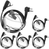 Tenq 5pack Covert Acoustic Tube Earpiece 2 PIN for Motorola Radio