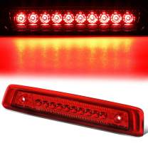 Red Housing Full LED 3rd Third Tail Brake Light Rear Center 3rd Stop Lamp Replacement for Jeep Commander 06-10