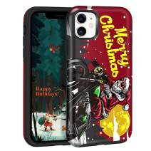 Maxcury Case for iPhone 11 in 6.1 Inch, [Eternal Series] Cool Santa Claus Riding Motorcycle for Merry Christmas Day Gift Premium Ultra Hybrid Protective Phone Case IMD Technology Not Fade Away