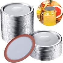 50 Pcs Canning Lids, Regular Mouth Mason Jar Lids, 2.76 in Silver Split-Type Lids, For Mason Jar Regular Mouth Split-type Lids Leak Proof Secure Canning Jar Caps