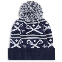 Lacrosse Pom Pom Beanie Hat   Lax Hats by ChalkTalk Sports