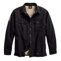 Harley-Davidson Men's #1 Genuine Classics Shirt Jacket, Black