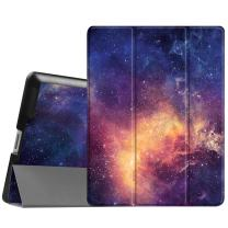 Fintie Slimshell Case for iPad 2 3 4 (Old Model) - Lightweight Tri-Fold Smart Stand Cover Protector Supports Auto Wake/Sleep for iPad 4th Generation with Retina Display, iPad 3 & iPad 2,Galaxy