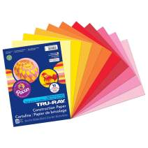 "Tru-Ray Heavyweight Construction Paper, Warm Assorted Colors, 9"" x 12"", 50 Sheets"