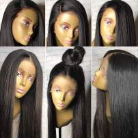 """360 Lace Frontal Wig Human Hair Wigs 150%-180% 360 Wig Pre Plucked 360 Lace Wig Brazilian Virgin Human Hair Wigs 360 wigs for black women Small Cap 20"""" Natural Black Color"""