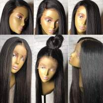 "Pre Plucked 360 Lace Frontal Wig Light Yaki Straight 150%-180% 14"" NC"