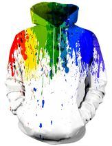 Syaimn Unisex 3D Printed Hoodies Casual Workout Hoodie Sweater Sweatshirt