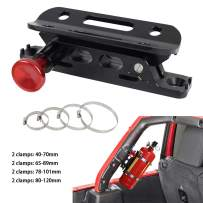 MFC New Multi-purpose Aluminum Adjustable Fire Extinguisher Holder Mount with 8 Clamps(4 pcs extra adjustable rings for spare using) for Jeep Wrangler UTV Polaris RZR Ranger
