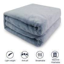 AK KYC Dog Pet Blanket Bed Cover Premium Flannel Fleece Puppy Throw Reversible Soft Warm Cozy Plush Microfiber Solid 2739 Inch