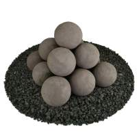 Ceramic Fire Balls   Set of 14   Modern Accessory for Indoor and Outdoor Fire Pits or Fireplaces – Brushed Concrete Look   Charcoal Gray, 4 Inch