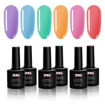 Bright Rainbow Gel Nail Polish Set ULG UV LED Soak Off Gel Polish Holiday Set Color Gel Polish Set 10ml 0.33oz