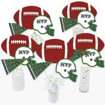 End Zone - Football - Baby Shower or Birthday Party Centerpiece Sticks - Table Toppers - Set of 15