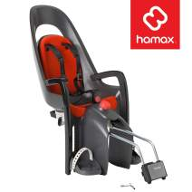 Hamax Caress Rear Child Bike Seat - Frame Mount, Ultra-Shock Absorbing, Adjustable to Fit Kids (Baby Through Toddler) 9 mo - 48.5 lb.