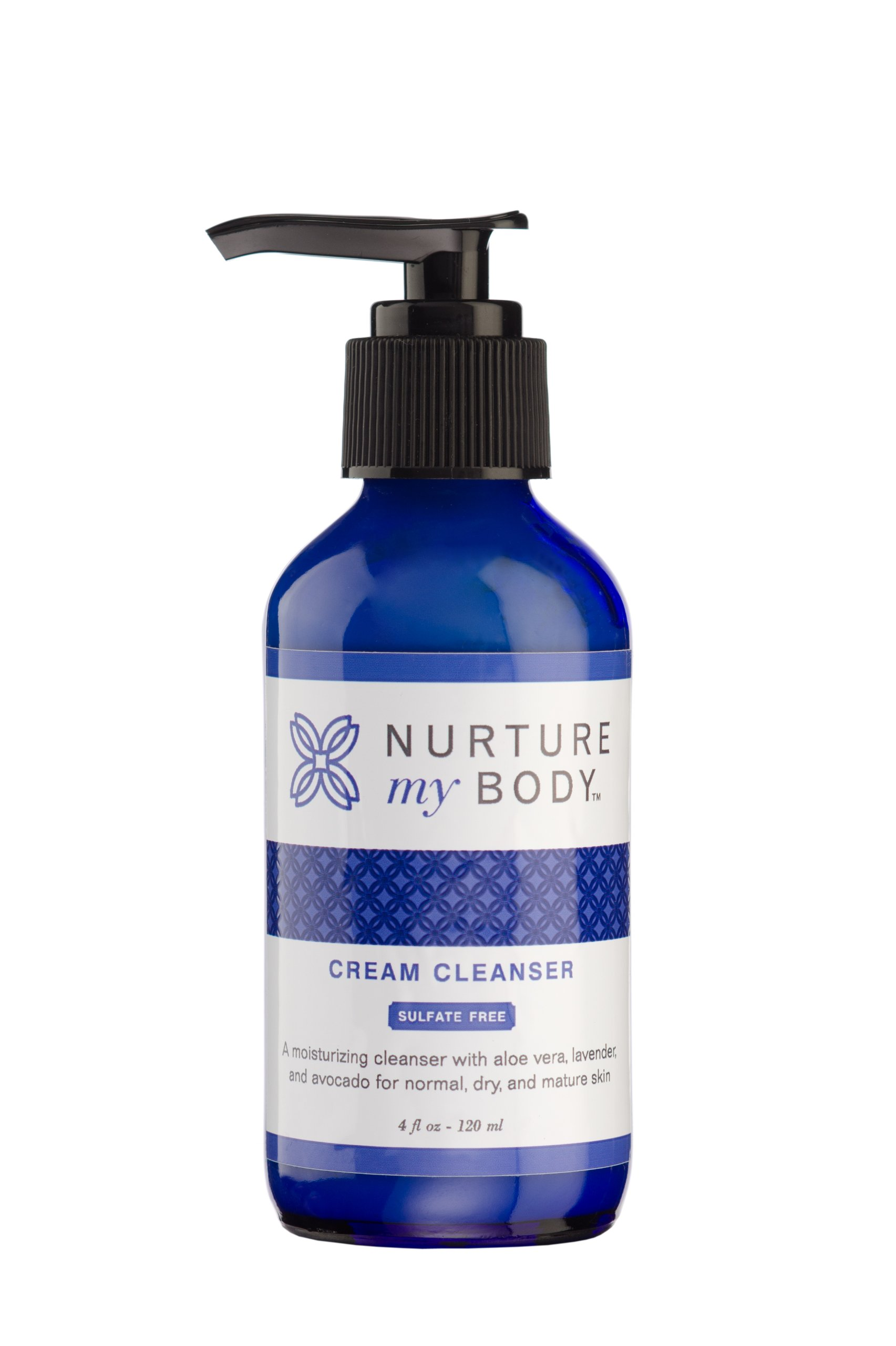 Nurture My Body All-Natural Facial Cream Cleanser & Wash, 4 fl oz. - Certified Organic Ingredients
