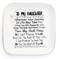 """Daughter Gifts from Mom """"to My Daughter"""" - Jewelry Ring Dish for My Girls - Thoughtful Gifts for Daughter Birthday, Mothers Day,Valentine's Day, Graduation Gift for Daughter Girls"""