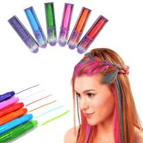 CCbeauty Hair Chalk Pens 6 Color Markers All Hair Color Dye Temporary Hair Chalk Set