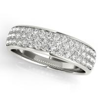 MauliJewels 0.65 Carat Diamond Engagement Wedding Band in 14K White Gold