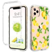 iPhone 11 Pro Case GUAGUA Clear Lemon Fruits 3 in 1 Hybrid Hard Plastic Soft TPU Bumper Cover Anti-Scratch Full Body Shockproof Protective Phone Cases for iPhone 11 Pro 5.8-inch 2019 Transparent