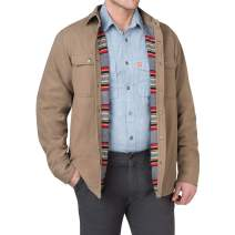 American Outdoorsman The Fleece Lined Washed Canvas Shirt Jackets for Men