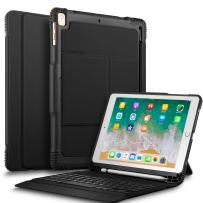IVSO New iPad 9.7 2018 Case with Keyboard, Ultra-Slim Portable Detachable Wireless Keyboard Case with Stylus Holder for New iPad 9.7 2018/2017/iPad Pro 9.7/iPad Air 2/iPad Air Tablet (Black)